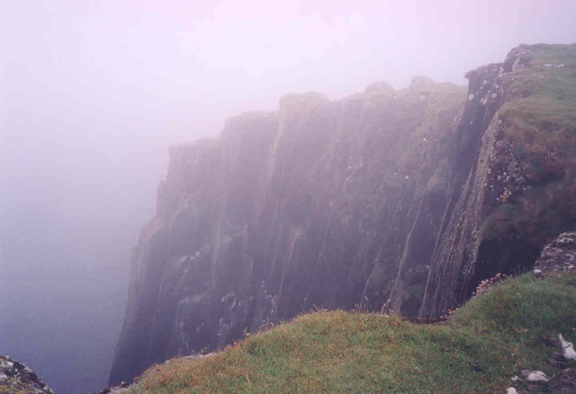 Cliffs on the southern end of Eilean Tighe