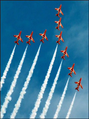 Red Arrows. Photo: Steve Connor