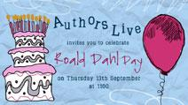 Authors Live Roald Dahl Day poster