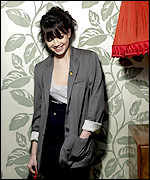 Daisy Lowe, going for the blazer look