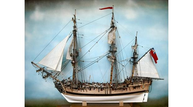 HMS Swallow - the ship in which Philippe de Carteret completed his second voyage around the world between 1766 and 1769.