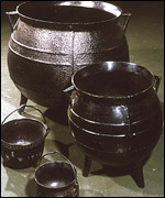 cooking pots made at Coalbrookdale