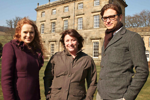 Dr. Kate Williams - Social Historian, Caroline Quentin - Presenter, and Kieran Long -Architectural Expert