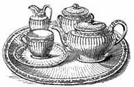 Elegant tea service and tray