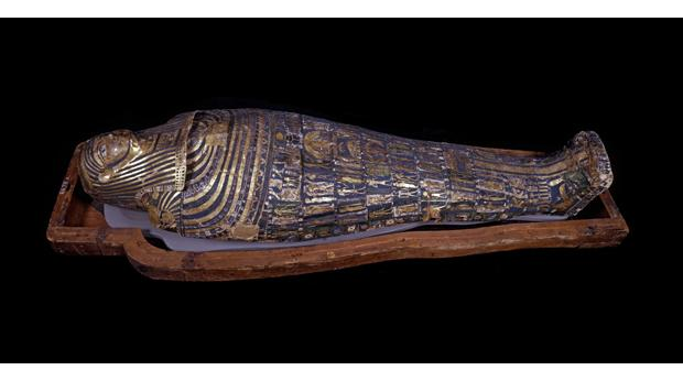 Mummy of the ancient Egyptian priest Hornedjitef. © Trustees of the British Museum