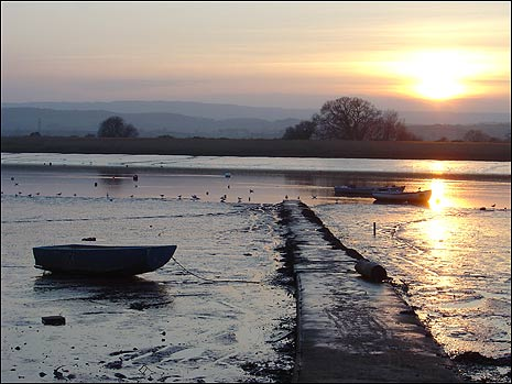View of the River Exe from The Strand at Topsham