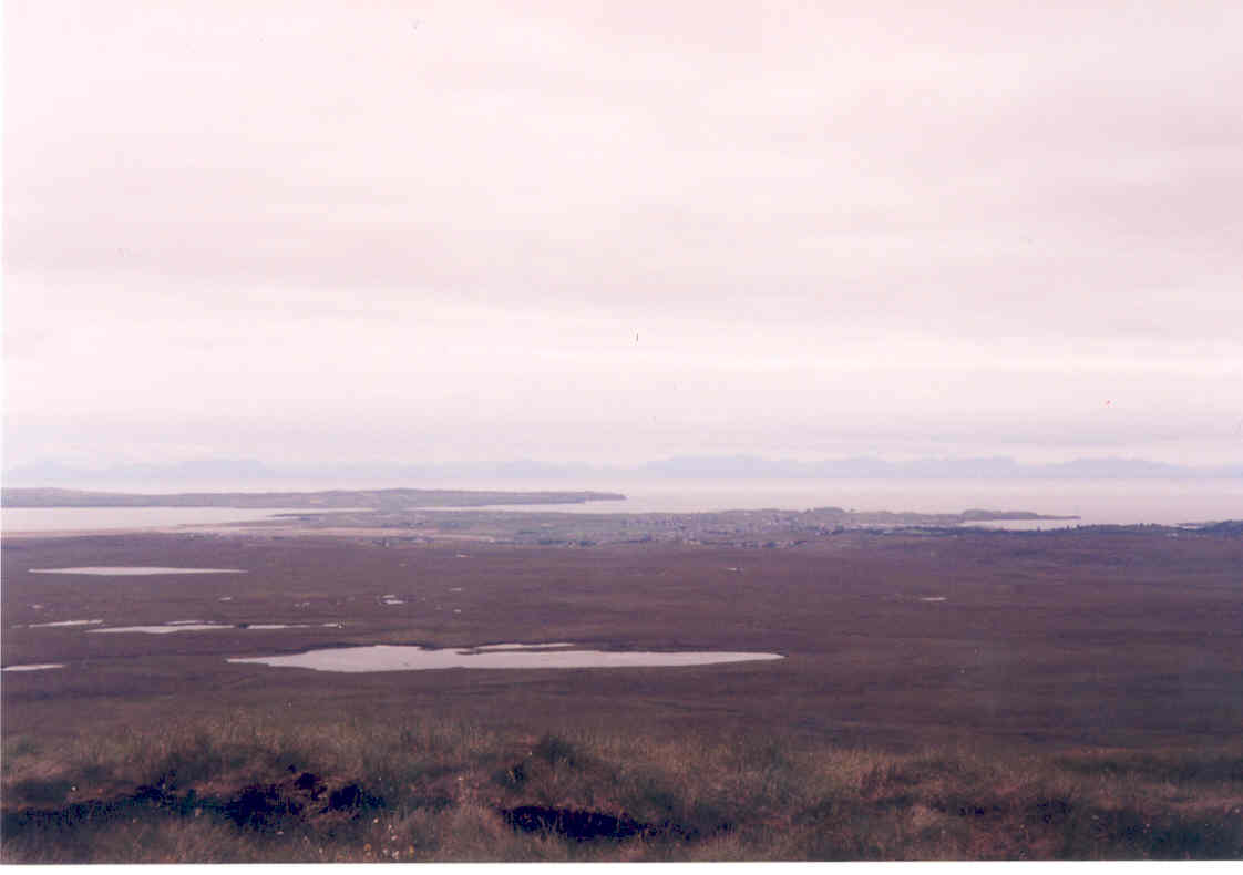 View from the Barvas Hills, towards Stornoway and Point
