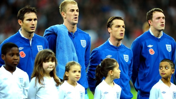 Frank Lampard, Joe Hart, Scott Parker and Phil Jones