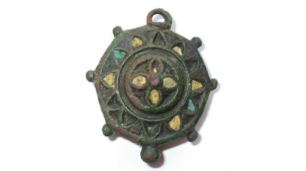 Roman umbonate brooch