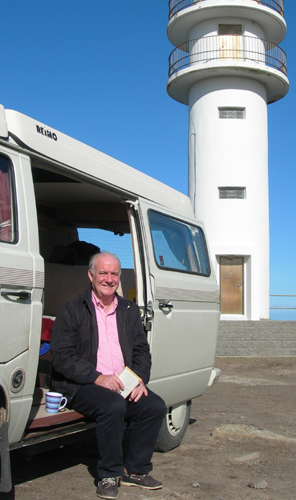 Rick Stein with campervan
