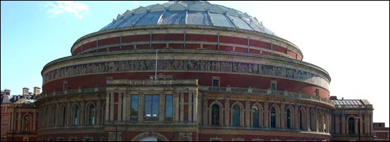 The Royal Albert Hall is located in Kensington, West London