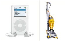 Sucessful designs: Apple iPod and Dyson vacuum cleaner