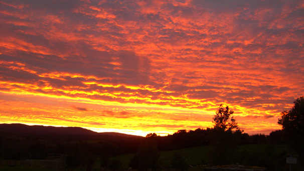 Sunset over Gartmore. Photo courtesy of Cameron Davies
