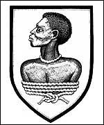 A bound slave was Hawkins' crest