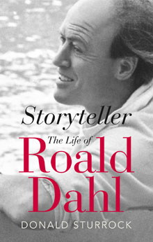Storyteller: The Life of Roald Dahl by Donald Sturrock cover jacket. Image © HarperCollins Publishers Ltd