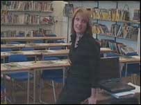 Tilly Prentice in the classroom
