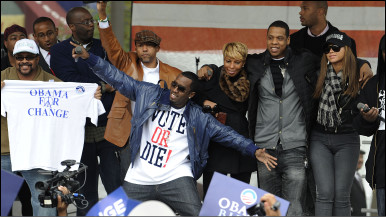 Hip-hop stars encourage young voters