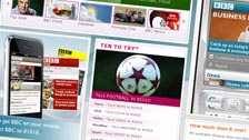 A screen shot of the BBC website