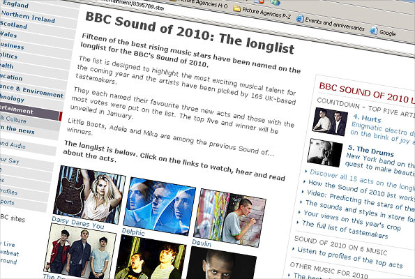 Screenshot Sound 2010