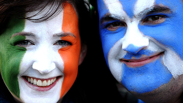 Fans of Ireland and Scotland will meet at Murrayfield desperate to see their national team win. Photo: Getty.