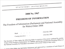 The Freedom of Information (Parliament and National Assembly for Wales) Order 2008