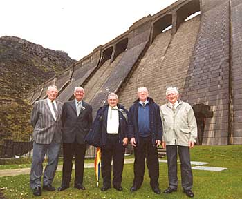 Old pals reunite at the Ben Crom Dam which they built 50 years ago