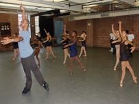 Ballet performers at the Dance Theater of Harlem, led by Keith Saunders