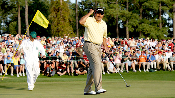 Cabrera came through a play-off to win last year at Augusta