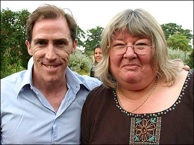Rob Brydon and Lyn McKinney.