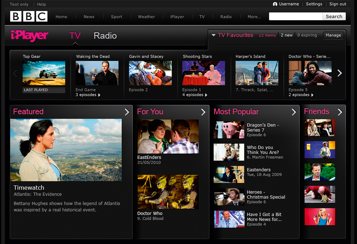 New iPlayer design