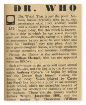 'Radio Times' article for 23 November, 1963