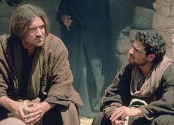 Who does Jesus think he is? A disciple looks questioningly at him