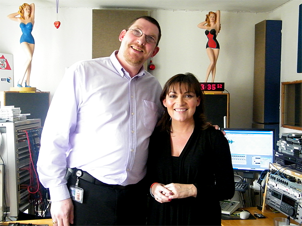 Forgive and Forget producer Phil Sime with the programme's presenter, Lorraine Kelly.