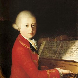 Picture of Mozart at the piano