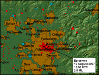 The epicentre of the quake: PIC BGS