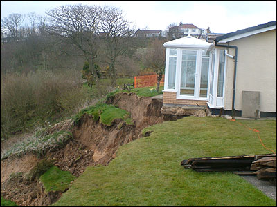 Landslip edges closer to bungalow
