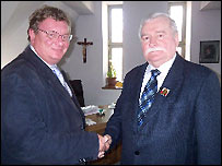Mark Mardell and Lech Walesa
