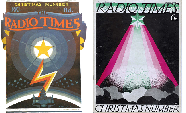 Covers from the Christmas Radio Times in 1926 and 1929.