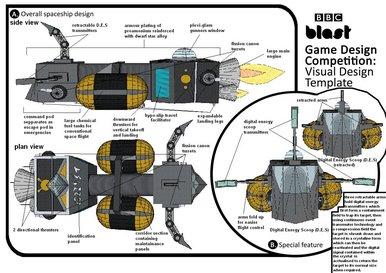 BBC Blast Art Design Game Design Competition Kruilis Spaceship - Spaceship design game