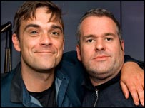Robbie Williams and Chris Moyles