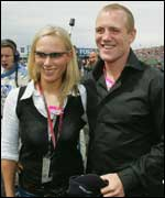 Zara Phillips with Mike Tindall GETTY