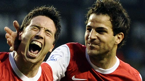 Nasri scored Arsenal's second goal