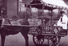 Horse drawn ice cream cart