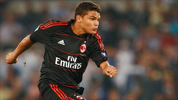 Brazil defender Thiago Silva in action for AC Milan