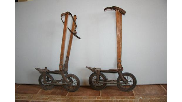 A Pair of Victorian road skates