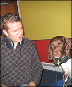 Dog and Mark Carter