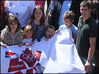 Olympic flag handover at Christchurch