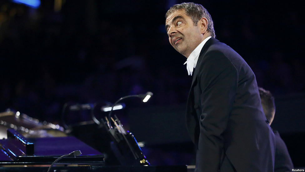 Rowan Atkinson's comic creation Mr Bean at London 2012 Opening Ceremony