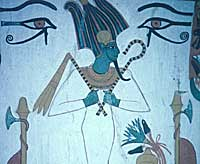 Osiris, from the tomb of Sennedjem at Thebes