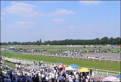 It's a beautiful day at Worcester Racecourse